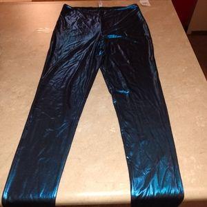 Free People Metallic Blue Legging